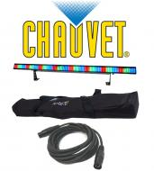 Chauvet Lighting DJ Colorstrip Wash LED Color Mixing Light with DMX Cable & Arriba Transport ...
