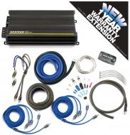 Kicker CX300.4 Car Audio 4 Chnnael 300W Amp Package & CK8 Amplifier Kit - 3 Year Warranty!