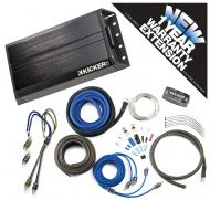 Kicker PXA200.2 Car Audio 2 Channel 200W Amp Package & CK8 Amplifier Kit - 3 Year Warranty!