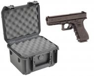 SKB 3I-0907-6B-L Waterproof Plastic Molded Gun Case for Glock 17 18 19 26 34 Semi-Auto 9mm Handgun