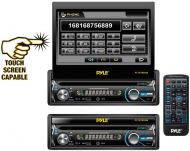 Pyle Car Audio PLTS78DUB 7' Single DIN In-Dash Detachable Motorized Touch Screen TFT/LCD Mon...