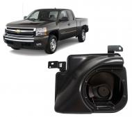 "2007-2013 Chevy Silverado Ext Cab Truck Empty Kicker Single 10"" Custom Molded Sub Box Enclosure"