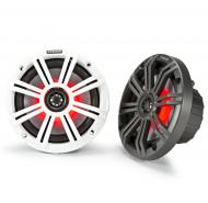 "Kicker 45KM84L Marine Audio Boat 8"" Coaxial Speakers 4 Ohm 7 Color LED Light New"