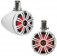 "Kicker 45KMTC65W Marine Audio Boat 6 1/2"" Tower Pod Speaker System Pair White"