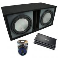"Universal Car Stereo Paintable Ported Dual 15"" Harmony A152 Sub Box & CX1200.1"