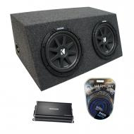 "Universal Car Stereo Hatchback Sealed Dual 15"" Kicker Comp C15 Sub Box Enclosure & CX120..."