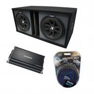 "Universal Car Stereo Paintable Ported Dual 15"" Kicker Comp C15 Sub Box Enclosure & CX120..."