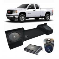 "2007-2013 GMC Sierra Ext Cab Truck Kicker CompR CWR12 Dual 12"" Sub Box Enclosure & CX120..."