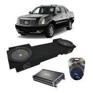2002-2013 Cadillac Escalade EXT Underseat Kicker CompR CWR12 Dual 12 Sub Box Enclosure & CX12...
