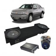 "2002-2013 Chevy Avalanche Underseat Kicker CompR CWR12 Dual 12"" Sub Box Enclosure & CX12..."