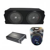 "2004-2008 Mazda RX-8 Coupe Kicker CompR CWR12 Dual 12"" Sub Box Enclosure Package & CX120..."