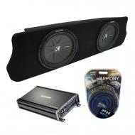 "1994-2004 Ford Mustang Coupe Kicker CompR CWR12 Dual 12"" Custom Sub Box Enclosure & CX12..."