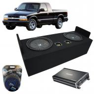 "1982-2004 Chevy S-10 Extended Cab Truck Kicker CompR CWR12 Dual 12"" Sub Box Enclosure & ..."