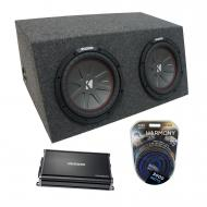 "Universal Car Stereo Hatchback Sealed Dual 15"" Kicker CompR CWR15 Sub Box Enclosure & CX..."
