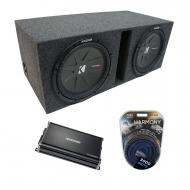 "Universal Car Stereo Vented Port Dual 15"" Kicker CompR CWR15 Sub Box Enclosure & CX1200...."