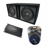"Universal Car Stereo Paintable Ported Dual 15"" Kicker CompR CWR15 Sub Box Enclosure & CX..."