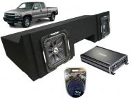 "Chevy Silverado 1999-2006 Extended Cab Truck Dual 10"" Square Kicker S10L7 Subwoofer Sub Box ..."