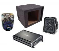 "Kicker Subwoofer Package S12L7 Sub, 12"" Box, CX1200.1 Amplifier & 4 Gauge Kit"
