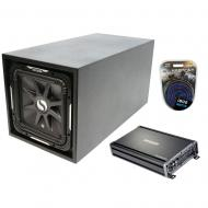 "Universal Fit Single 12"" Vented Square Solobaric L7 Enclosure Kicker S12L7 Sub Box with CX12..."