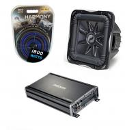 Kicker Subwoofer Package S12L7 Sub, CX1200.1 Amplifier & 4 Gauge Kit