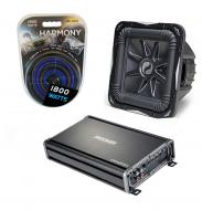 Kicker Subwoofer Package S15L7 Sub, CX1200.1 & 4 Gauge Amp Kit