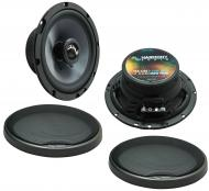 "Harmony Audio HA-C65 Car Stereo Carbon 6.5"" Replacement 350W Speakers & Grills"