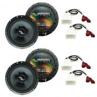 Fits Scion xA 2004-2006 OEM Speaker Upgrade Harmony Premium Speakers (2) C65 Package New