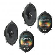 Fits Ford Five Hundred 2005-2007 Factory Premium Speaker Upgrade Harmony (2) C68 Package