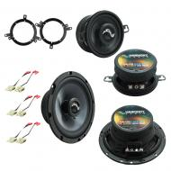 Fits Jeep Grand Cherokee 1996-1998 OEM Premium Speaker Replacement Harmony Upgrade Kit