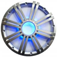 "Kicker 43BKMW10GLS Marine Audio Subwoofer 10"" Silver LED Color Light Sub Grill"