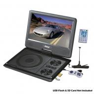 Pyle Home Audio PDH7 7' Portable TFT/LCD Monitor w/ Built-In DVD Player MP3/MP4/USB SD Card ...