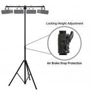 Harmony Audio HA-TBARA Pro Audio DJ Lighting Tripod & T-Bar Light Stand with Air Brake Drop C...