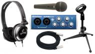 PreSonus AudioBox 22VSL Pro Audio 2CH USB 2.0 Computer Recording System with $120 Podcast Studio ...