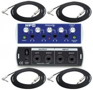 """PreSonus HP4 Pro Audio 4CH Headphone Distribution Amplifier with (4) TRS 1/4"""" Cables Package"""