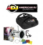 American DJ Lighting 64 COMBO Par Can Polished Stage Light with Arriba AC-50 Accessory Bag