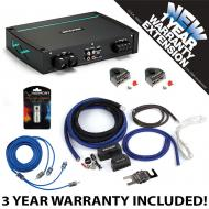 Kicker 44KXMA12002 Marine Audio 2 Channel Amp KXMA1200.2 & 1/0 GA Amplifier Accessory Kit - 3...