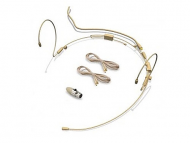 Avlex HSP-03BR Brown Dual-Ear Headset Microphone 3mm Omni Directional Capsule (Includes Audio Cab...