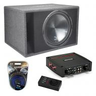 "Harmony HA-RS15 Car Audio Loaded 15"" Vented 900W Sub Box Bundle with Kicker 44KXA4001 Amp &a..."