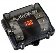 Harmony Audio HA-ANLD2 Car 2-Way ANL Digital Voltage Display Fuseholder 1/0GA IN - 4GA OUT