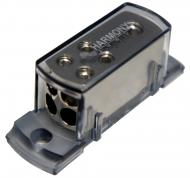 Harmony Audio HA-NFD4 Car Audio Wire Distribution Block (1) 4GA IN (4) 8GA OUT