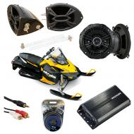 "Ski-Doo Snowmobile Kicker DSC50 & PXA300.4 Amp Custom 5 1/4"" Speaker Pod System"