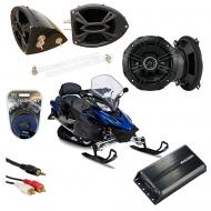 "Yamaha Snowmobile Kicker DSC50 & PXA300.4 Amp Custom 5 1/4"" Speaker Pod System"
