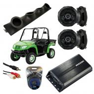 "Artic Cat Prowler Powered Kicker DSC50 & PXA300.4 Amp Quad (4) 5 1/4"" Speaker UTV Pod Sy..."