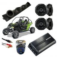 "Artic Cat Wildcat Powered Kicker DSC50 & PXA300.4 Amp Quad (4) 5 1/4"" Speaker UTV Pod Sy..."