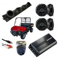 "Bush Hog Trail Hand Powered Kicker DSC50 & PXA300.4 Amp Quad (4) 5 1/4"" Speaker UTV Pod ..."