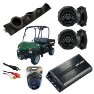 "Bush Hog Trail Hunter Powered Kicker DSC50 & PXA300.4 Amp Quad (4) 5 1/4"" Speaker UTV Po..."