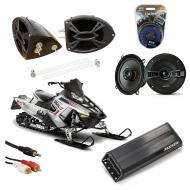 "Polaris Snowmobile Kicker KSC50 & PXA300.4 Amp Custom 5 1/4"" Speaker Pod System"