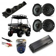 "Bad Boy Buggy Powered Kicker KSC50 & PXA300.4 Amp Quad (4) 5 1/4"" Speaker UTV Pod System"