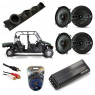 "Bennche 700X Powered Kicker KSC50 & PXA300.4 Amp Quad (4) 5 1/4"" Speaker UTV Pod System"