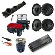 "Bush Hog Trail Hand Powered Kicker KSC50 & PXA300.4 Amp Quad (4) 5 1/4"" Speaker UTV Pod ..."